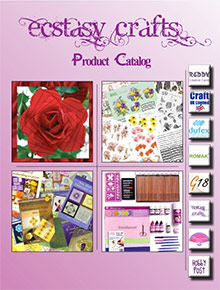 Picture of paper arts and crafts from Ecstasy Crafts catalog