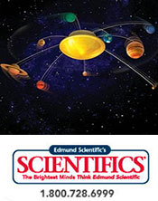 Image of model solar systems from Edmund Scientifics catalog