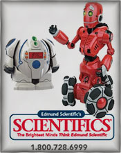 Image of model robot kits from Edmund Scientifics catalog