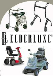 Image of personal mobility devices from ELDERLUXE catalog