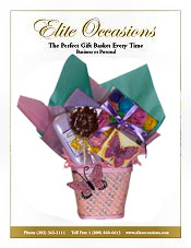 Image of gift ideas for her from Elite Occasions Gift Baskets catalog