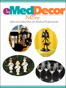 Picture of medical gifts from eMedDecor catalog