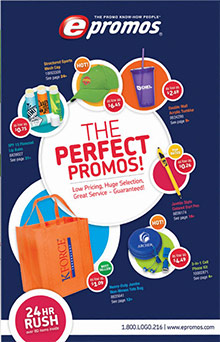 Picture of imprinted promotional products from ePromos catalog