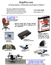 Picture of ergonomic office furniture from ErgoPro.com catalog