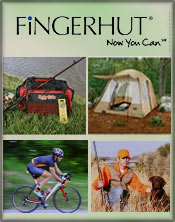 Picture of fishing and hunting from Fingerhut Camping & Fishing catalog