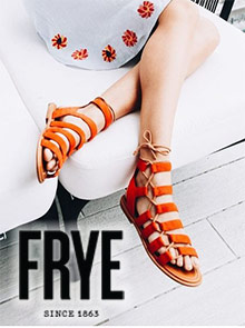 Picture of frye shoe catalog from Frye catalog