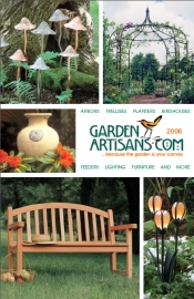 Picture of metal outdoor sculpture from Garden Artisans catalog