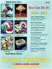 Picture of discount stained glass supplies from Glass Crafters Stained Glass catalog