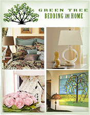 Picture of bedding for the home from Green Tree Bedding and Home catalog