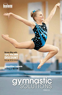 Picture of girls gymnastics leotards from Gymnastic Solutions catalog