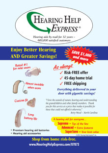 Picture of best hearing aids from Hearing Help Express catalog