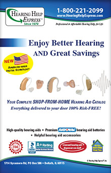 Picture of hearing help express catalog from Hearing Help Express catalog