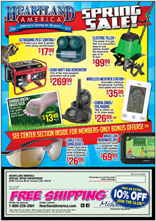 Picture of online bargain shopping from Heartland catalog