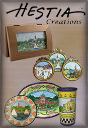 Picture of nativity figurines from Hestia Creations catalog