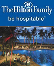 Image of luxury family resort from Hilton Hotels catalog