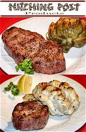 Image of restaurant quality steak from Hitching Post Steaks catalog