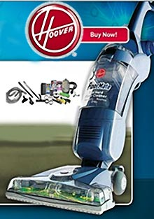 Picture of HEPA filter vacuum cleaners from Hoover catalog