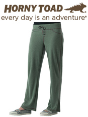 Image of women's cotton pants from Horny Toad Activewear catalog