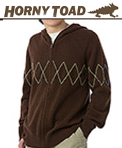 Image of mens knit sweaters from Horny Toad Activewear catalog