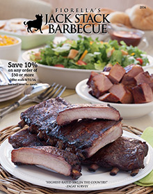 Picture of barbeque ribs from Jack Stack Barbecue catalog