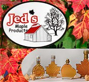 Picture of organic maple syrup from Jed's Maple catalog