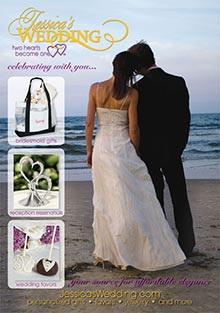 Picture of wedding favors for guests from Jessica's Wedding catalog
