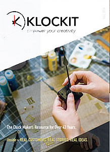 Picture of clock parts suppliers from Klockit catalog