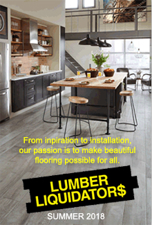Picture of install wood floor from Lumber Liquidators catalog