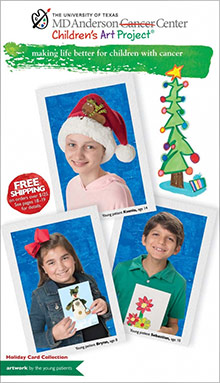 Picture of MD Anderson Christmas cards from Children's Art @ MDA catalog