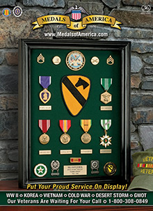 Picture of military awards and decorations from Medals of America catalog