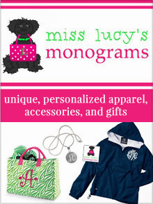 Picture of monogrammed gifts from Miss Lucy's Monograms catalog