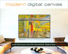 Picture of digital canvas artwork from Modern Digital Canvas catalog