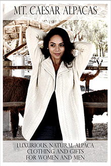 Picture of alpaca sweaters from Mt. Caesar Alpacas catalog