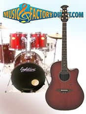 Picture of percussion musical instruments from Music Factory Direct – Percussion & Guitar catalog