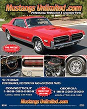 Picture of Mercury Cougar parts from Mercury Cougars 1967-73 by Mustangs Unlimited catalog