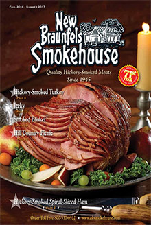 Picture of smoked brisket from New Braunfels catalog