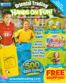 Picture of teachers supply store from Oriental Trading Company - Hands On Fun catalog