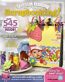 Picture of scrapbooking ideas from Oriental Trading catalog