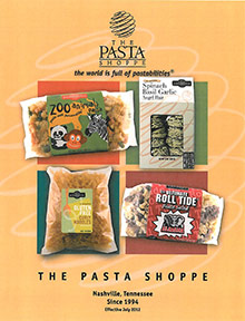 Picture of pasta shapes from The Pasta Shoppe catalog