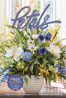 Picture of silk flower arrangements from Petals catalog