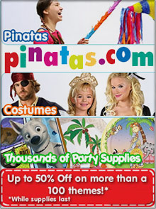 Image of holiday themed parties from Pinatas.com catalog