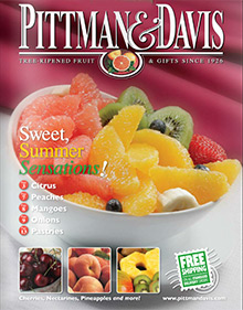 Picture of gourmet fruit gift basket from Pittman and Davis catalog