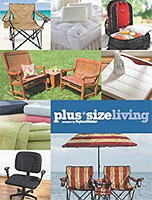 Picture of oversized chairs from Plus+ Size Living from BrylaneHome catalog