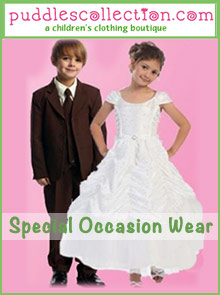 Image of formal dresses for girls from Puddles Collection catalog