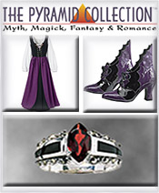 Image of dark gothic clothiing from Pyramid Collection catalog