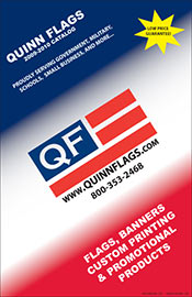 Picture of custom flags and banners from Quinn Flags catalog