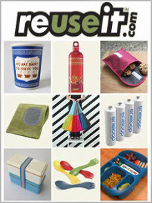 Picture of reususable items from reuseit.com catalog