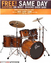 Image of acoustic drum sets from Same Day Music catalog