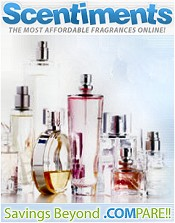 Picture of discount on perfume from  Scentiments catalog