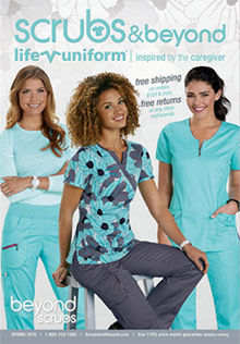 Picture of discount scrub sets from  Scrubs & Beyond catalog